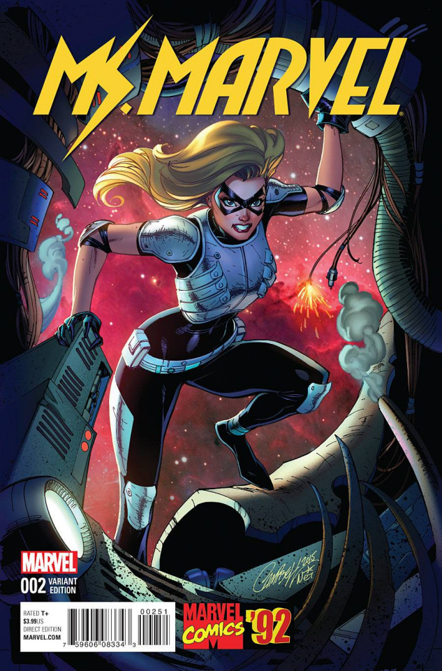 Ms. Marvel #2 (Campbell Marvel '92 Cover)