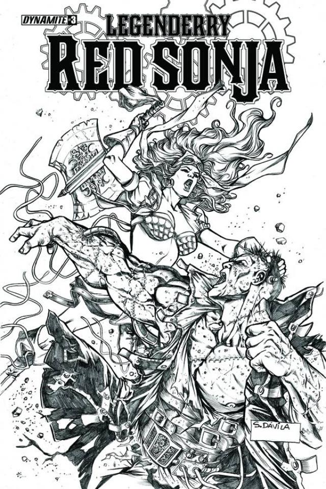Legenderry: Red Sonja #3 (10 Copy Davila B&W Cover)
