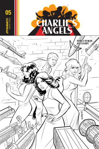 Charlie's Angels #5 (10 Copy Eisma B&W Cover)
