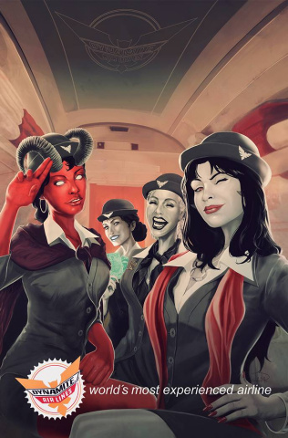 Vampirella vs. Purgatori #4 (Maine Virgin Cover)