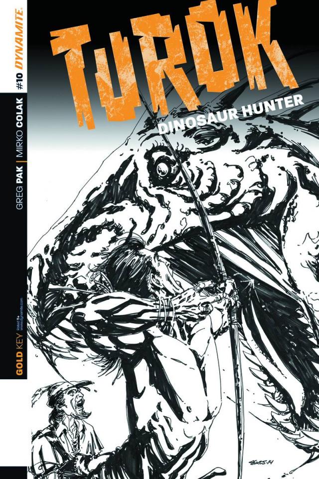 Turok: Dinosaur Hunter #10 (10 Copy Sears B&W Cover)