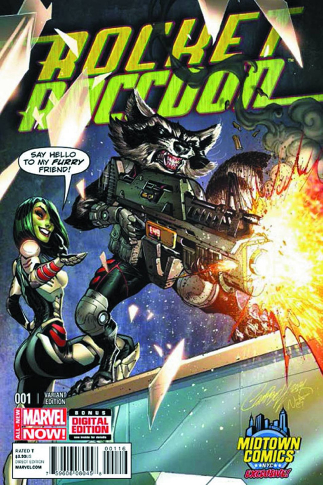 Rocket Raccoon #1 (Midtown Comics Cover)