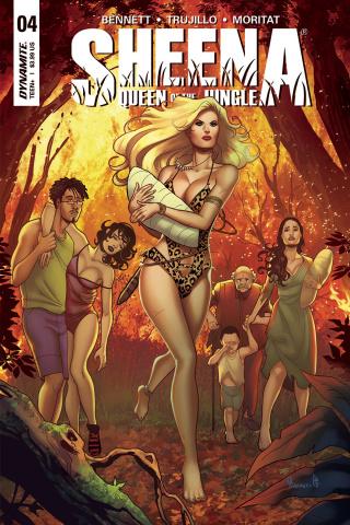 Sheena #4 (Sanapo Cover)