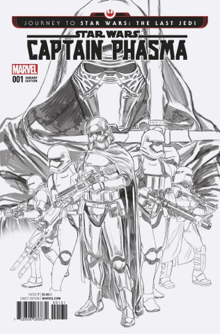 Journey to Star Wars: The Last Jedi - Captain Phasma #1 (B & W Cover)