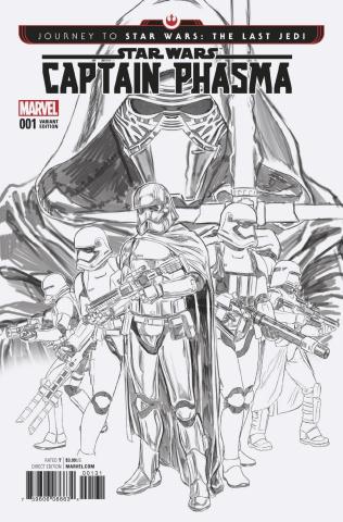 Journey to Star Wars: The Last Jedi - Captain Phasma #1 (B & W Cover)