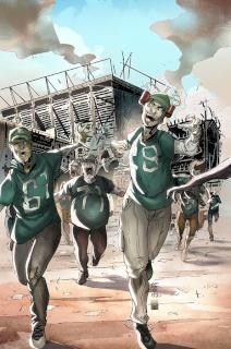 Aliens vs. Zombies #5 (Cafaro Cover)