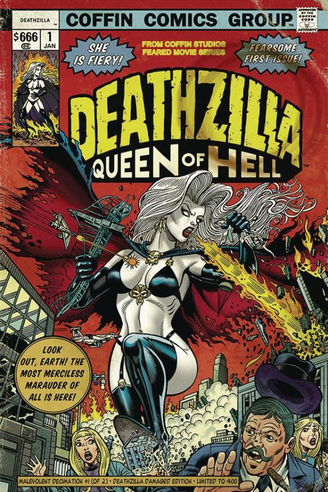 Lady Death: Malevolent Decimation #1 (Deathzilla Damage Cover)