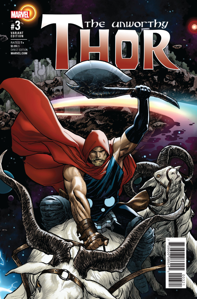 The Unworthy Thor #3 (Sook Cover)