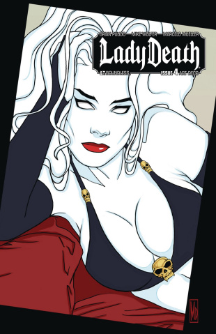 Lady Death #4 (Art Deco Variant Cover)