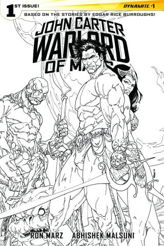 John Carter: Warlord of Mars #1 (40 Copy Sears B&W Cover)