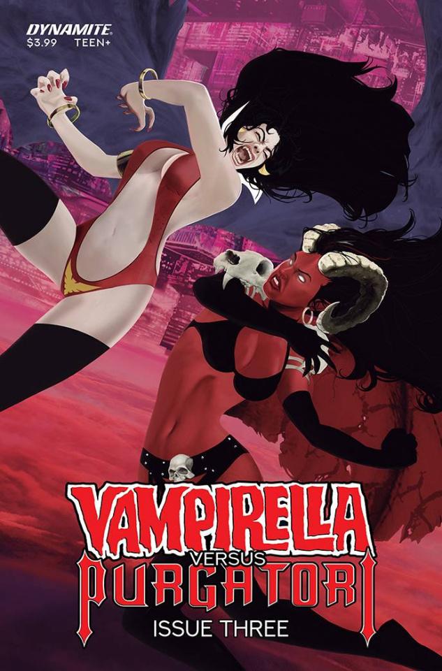 Vampirella vs. Purgatori #3 (Premium Maine Cover)