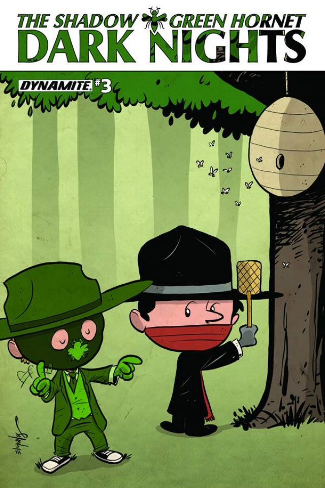 The Shadow / Green Hornet: Dark Nights #3 (Subscription Cover)