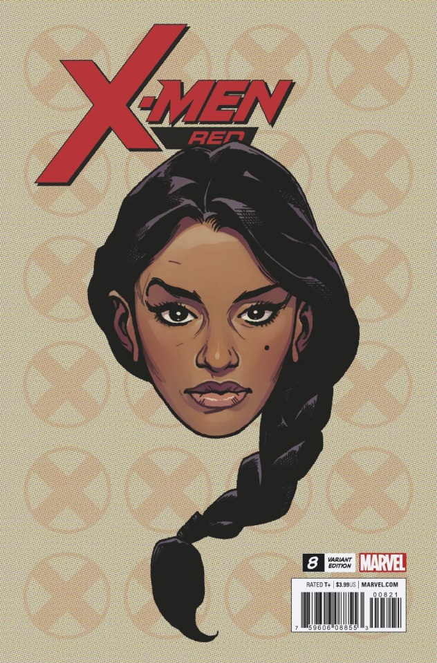 X-Men: Red #8 (Charest Headshot Cover)