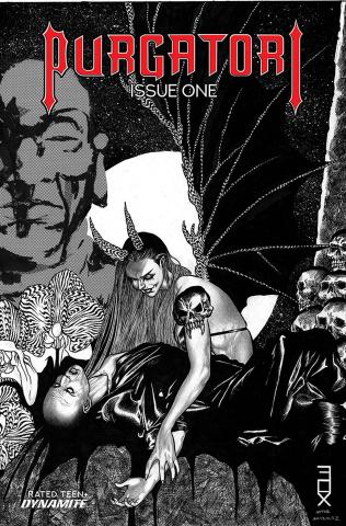 Purgatori #1 (15 Copy Fox B&W Cover)