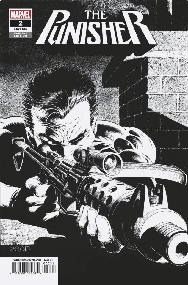 The Punisher #2 (Zeck B&W Hidden Gem Cover)