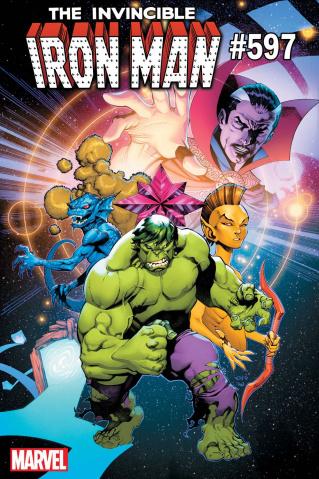 Invincible Iron Man #597 (Stevens Hulk Cover)