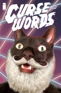 Curse Words #1 (Glitter Wizard Cat Cover)