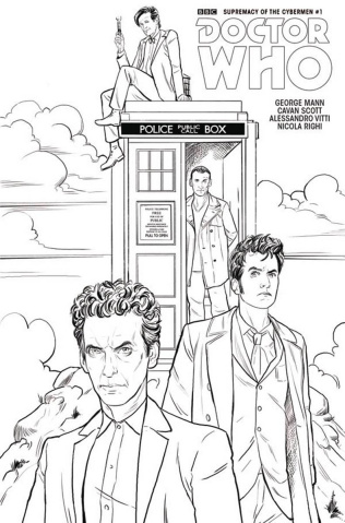 Doctor Who: Supremacy of the Cybermen #1 (Coloring Book Cover)