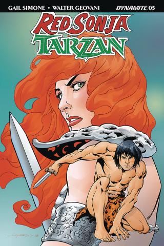 Red Sonja / Tarzan #5 (Lopresti Cover)