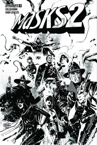 Masks 2 #1 (50 Copy Hardman B&W Cover)