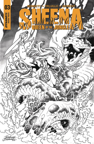Sheena #3 (20 Copy Buchemi B&W Cover)