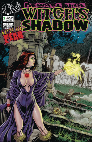 Beware the Witch's Shadow Happy New Fear #1 (Bonk Graveside Cover)