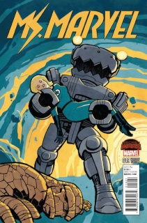 Ms. Marvel #19 (Chiang Kirby Monster Cover)