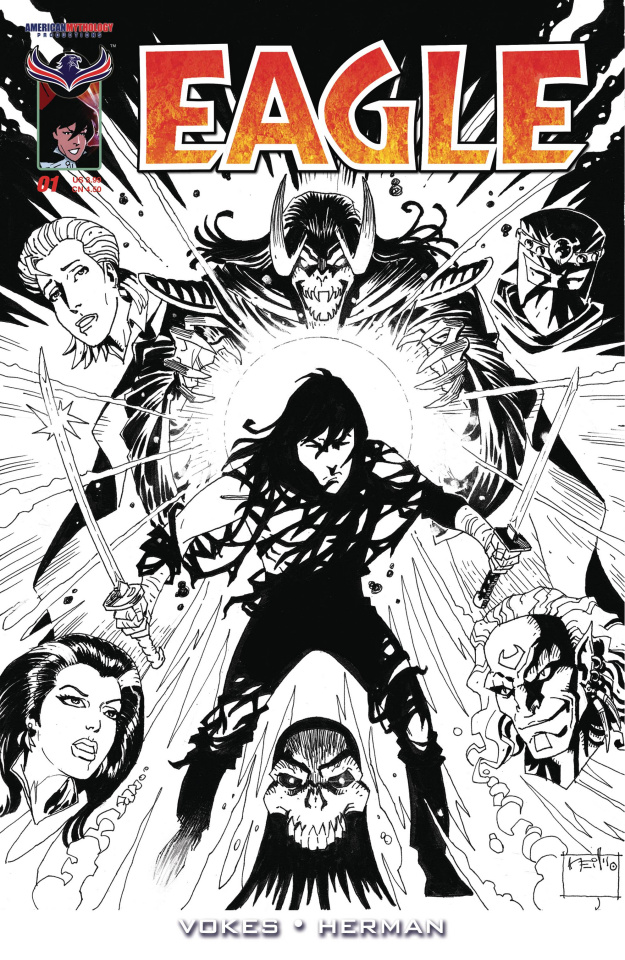 Eagle: Resurgent #1 (B&W 2 Copy Cover)