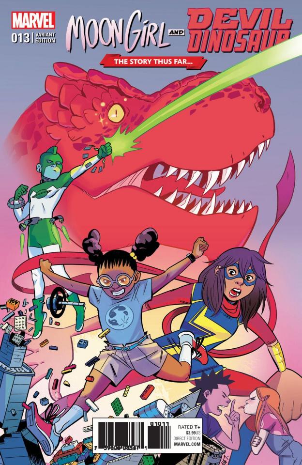 Moon Girl and Devil Dinosaur #13 (Story Thus Far Cover)