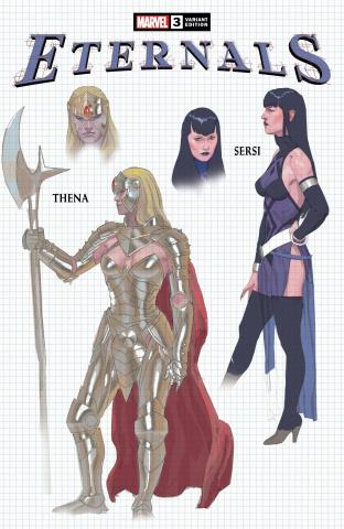 Eternals #3 (Ribic Design Cover)