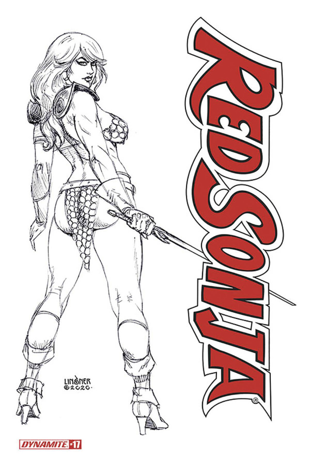 Red Sonja #17 (20 Copy Linsner B&W Cover)