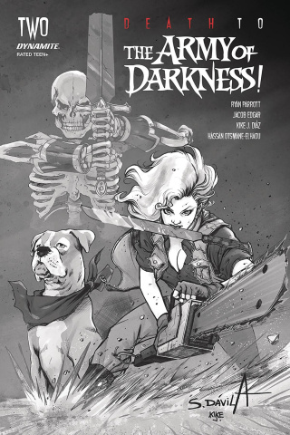 Death to the Army of Darkness #2 (40 Copy Davila B&W Cover)