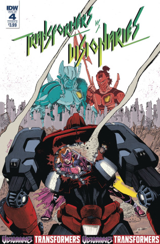 The Transformers vs. The Visionaries #4 (Pizzari Cover)
