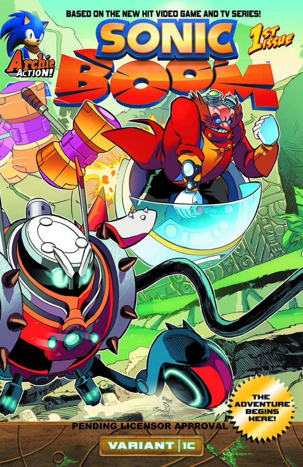 Sonic Boom #1: Here Comes the Boom, Part 3 (Variant Cover)
