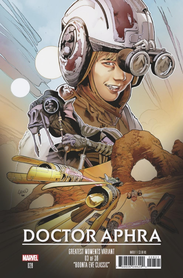Star Wars: Doctor Aphra #28 (Land Greatest Moments Cover)
