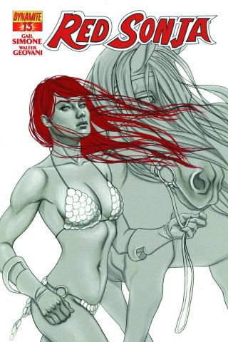 Red Sonja #13 (15 Copy Frison B&W Cover)