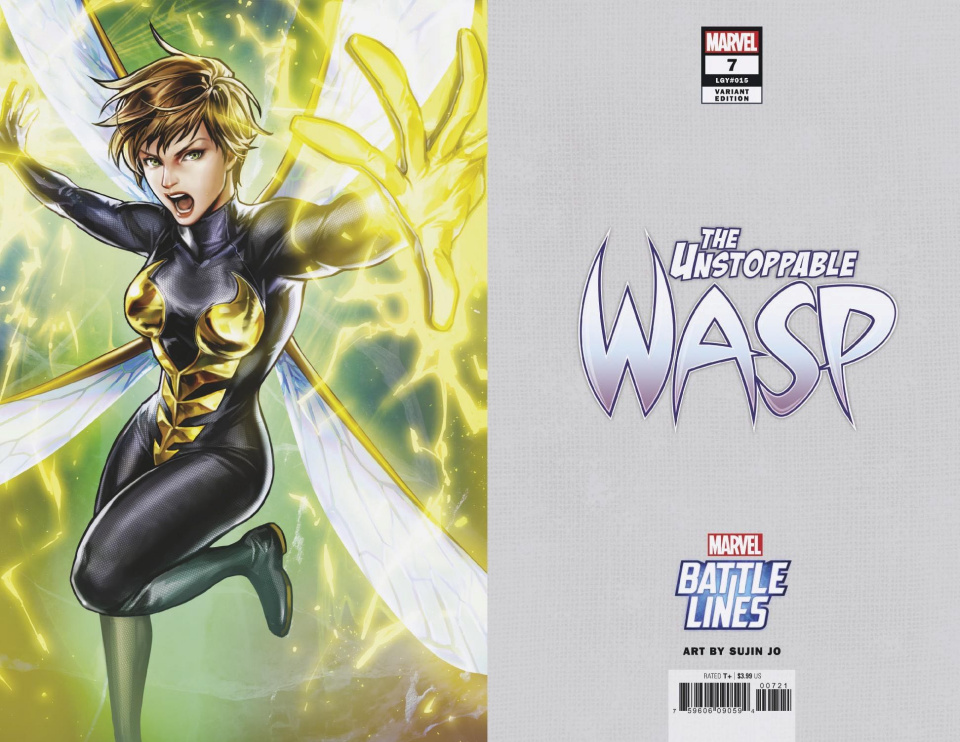 The Unstoppable Wasp #7 (Sujin Jo Marvel Battle Lines Cover)