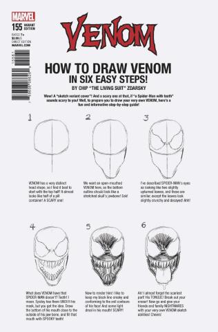 Venom #155 (Zdarsky How To Draw Cover)