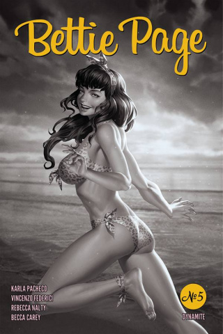 Bettie Page #5 (20 Copy Yoon B&W Cover)