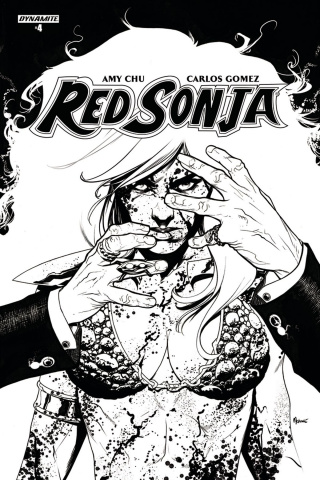 Red Sonja #4 (20 Copy McKone B&W Cover)