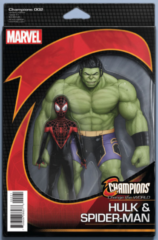 Champions #2 (Christopher Action Figure Cover)