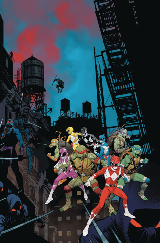 Power Rangers / Teenage Mutant Ninja Turtles #3 (Mora Cover)