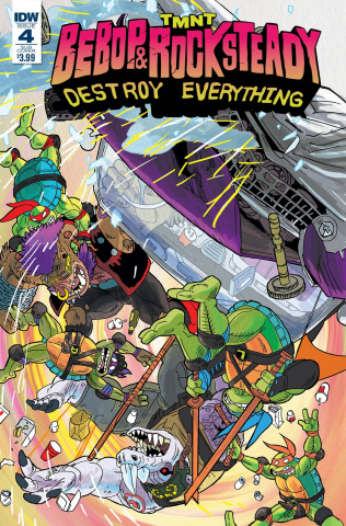 Teenage Mutant Ninja Turtles: Bebop & Rocksteady Destroy Everything #4 (Subscription Cover)