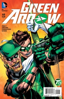 Green Arrow #44 (Green Lantern 75th Anniversary Cover)