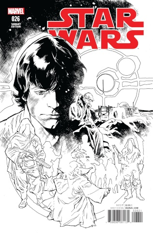 Star Wars #26 (Immonen B&W Cover)