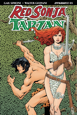 Red Sonja / Tarzan #3 (Lopresti Cover)
