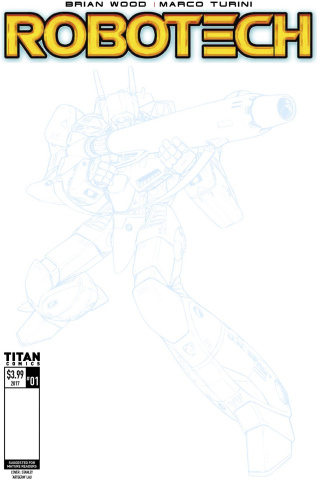 Robotech #1 (Blank Sketch Cover)