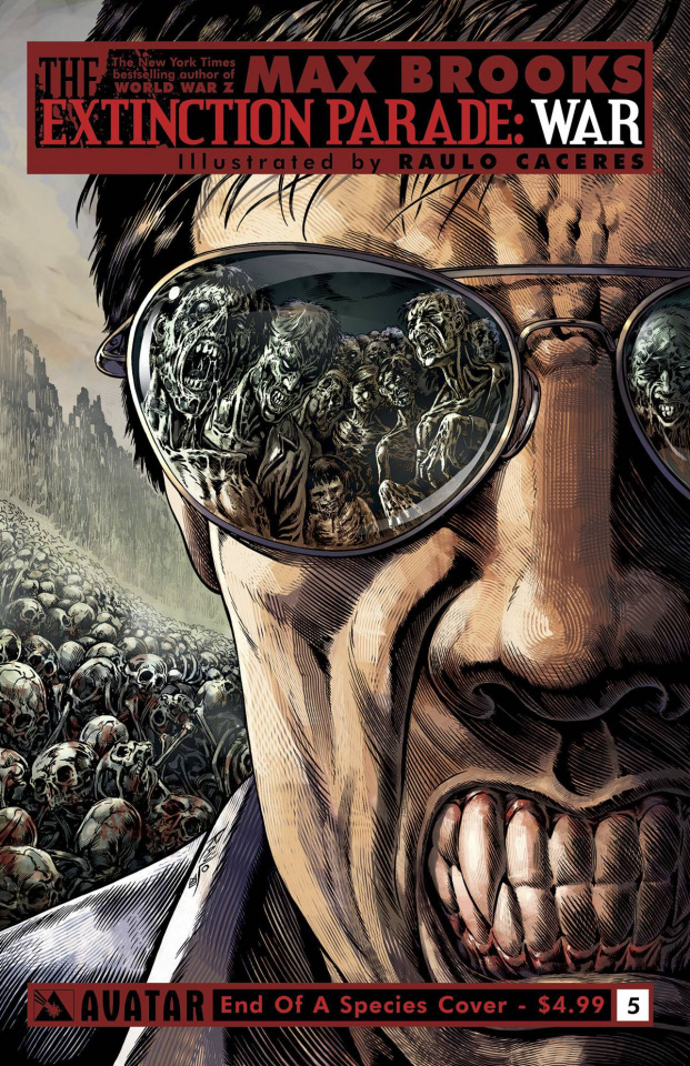 The Extinction Parade: War #5 (End of Species Cover)
