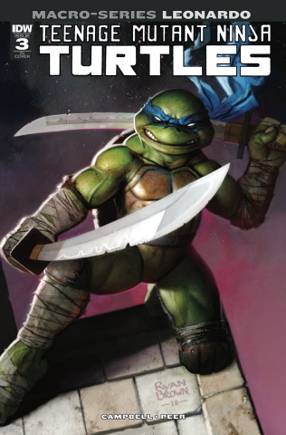 Teenage Mutant Ninja Turtles Macro-Series #3: Leonardo (10 Copy Brown Cover)