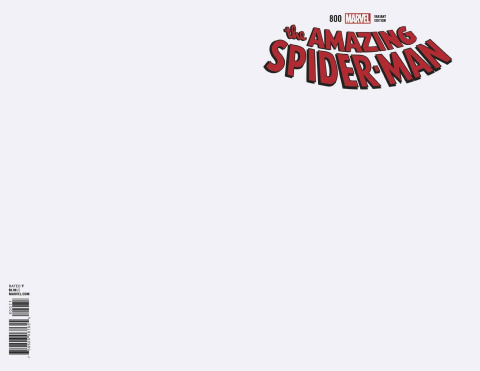 The Amazing Spider-Man #800 (Blank Cover)